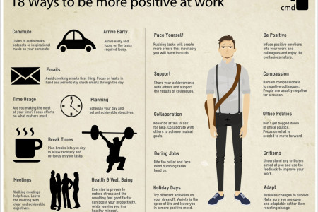 18 Ways To Be More Positive In The Office Infographic
