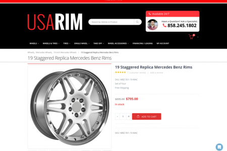 19 Staggered Replica Mercedes Benz Rims Infographic