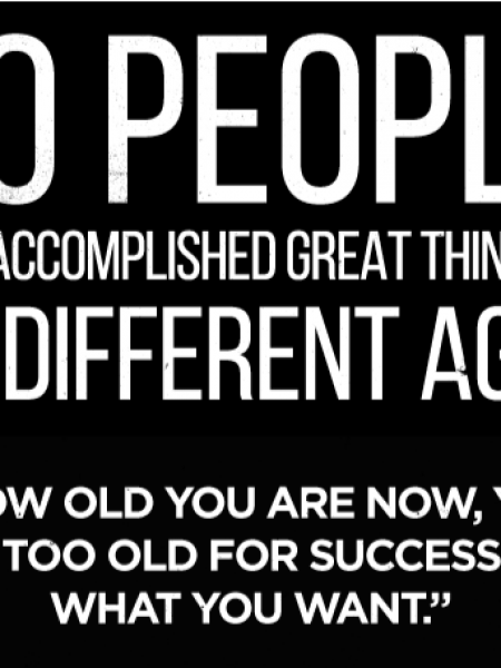 20  PEOPLE  WHO  ACCOMPLISHED  GREAT  THINGS  AT 20  DIFFERENT  AGES  Infographic