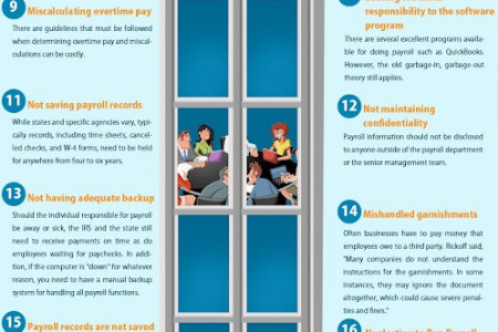 20 Common Mistakes By Payroll Companies Infographic