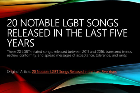 20 Notable LGBT Songs Released in the Last Five Years  Infographic