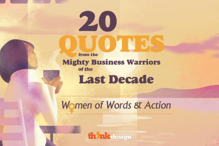 20 Quotes from Mighty Female Business Warriors of the Last Decade Infographic
