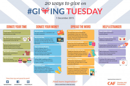 20 Ways to Give on Giving Tuesday Infographic