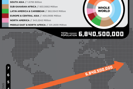 2010 World Population Infographic Infographic