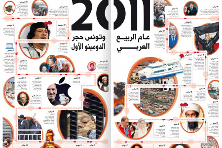 2011 events Timeline Infographic