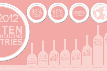 2012 Top Ten Wine Producing Countries Infographic