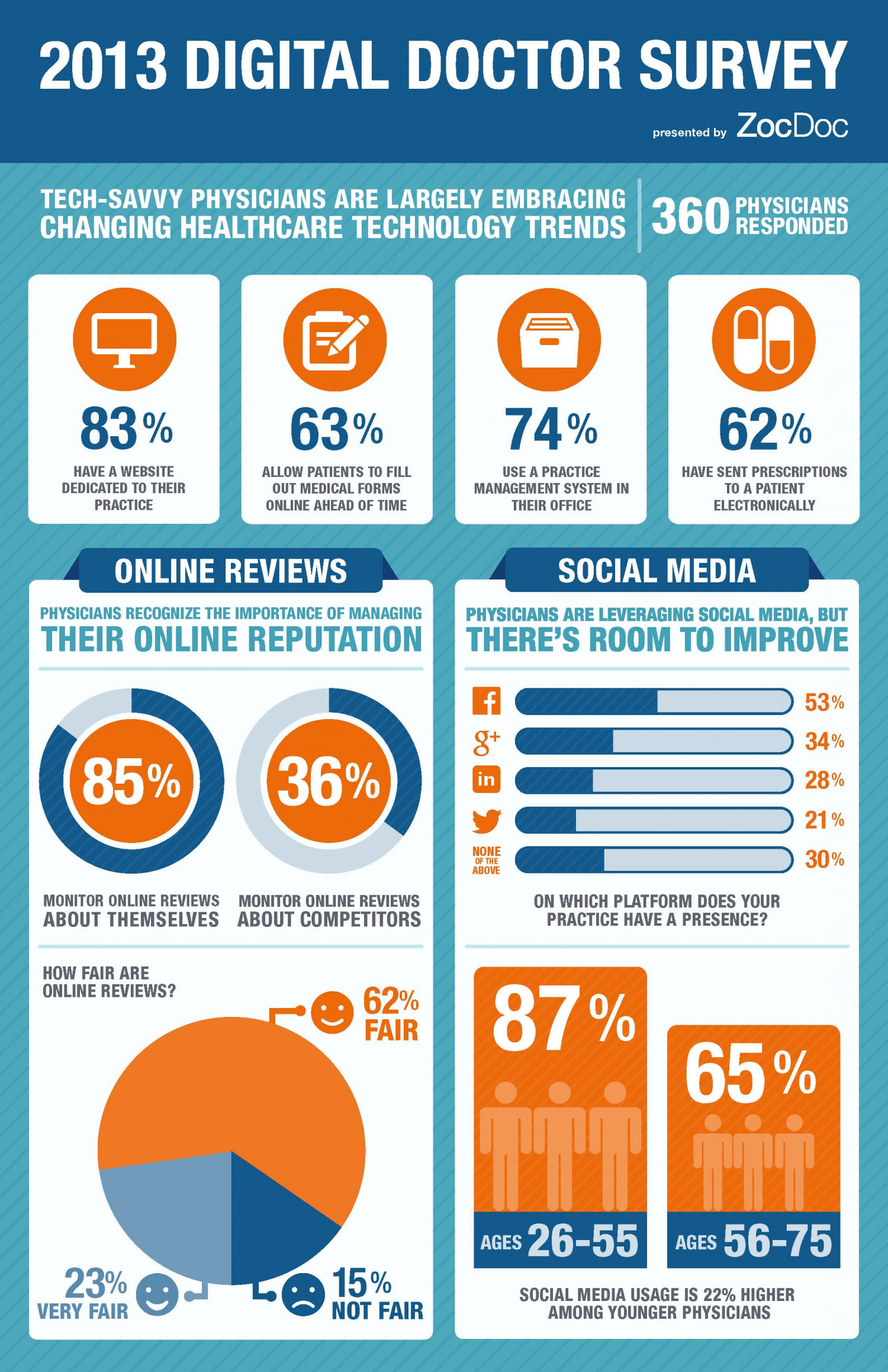 2013 Digital Doctor Survey Results Infographic