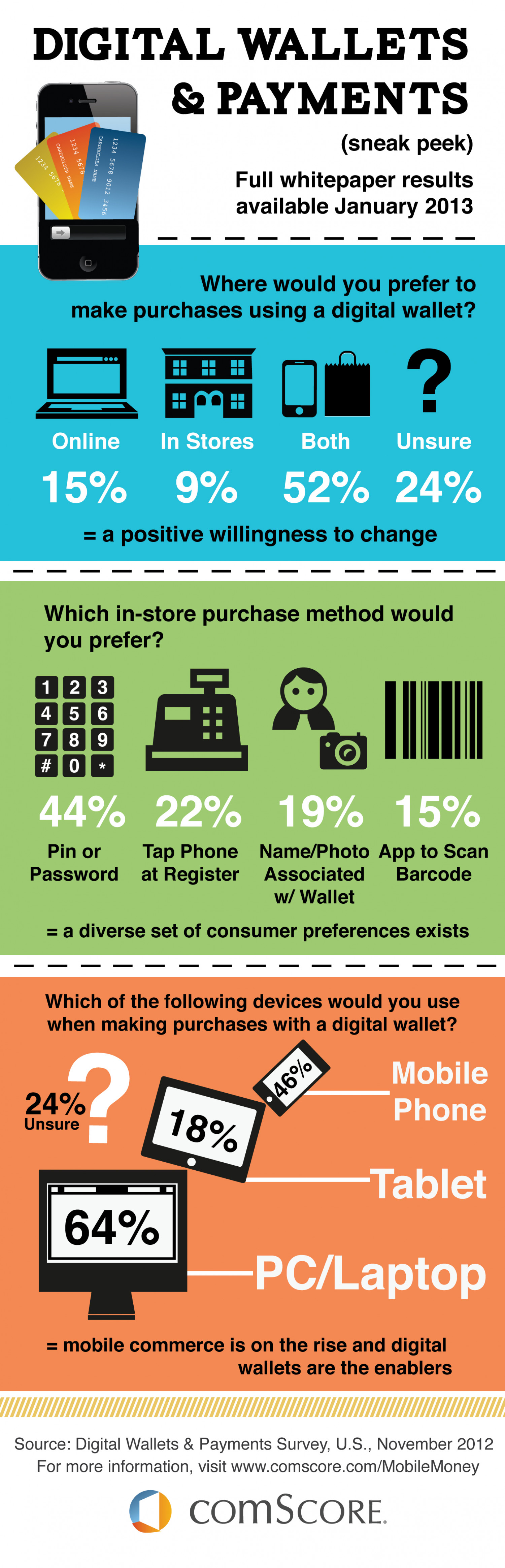 2013 Digital Wallets & Payments Sneak Peek Infographic