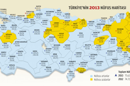 2013 Turkey's population Infographic