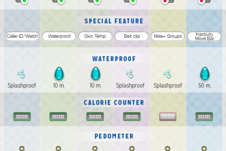 2014 Fitness Tracker Review Guide Infographic