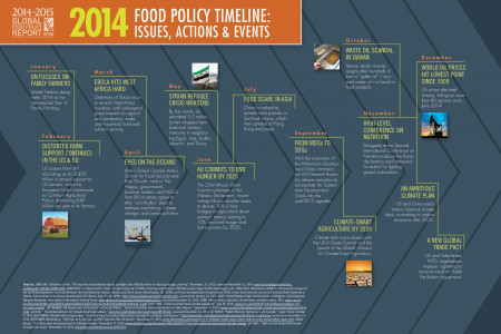 2014 Food Policy Timeline: Issues, Actions, & Events Infographic