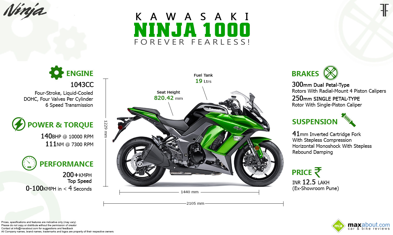 2014 Kawasaki Ninja 1000: All You Need to Know Infographic