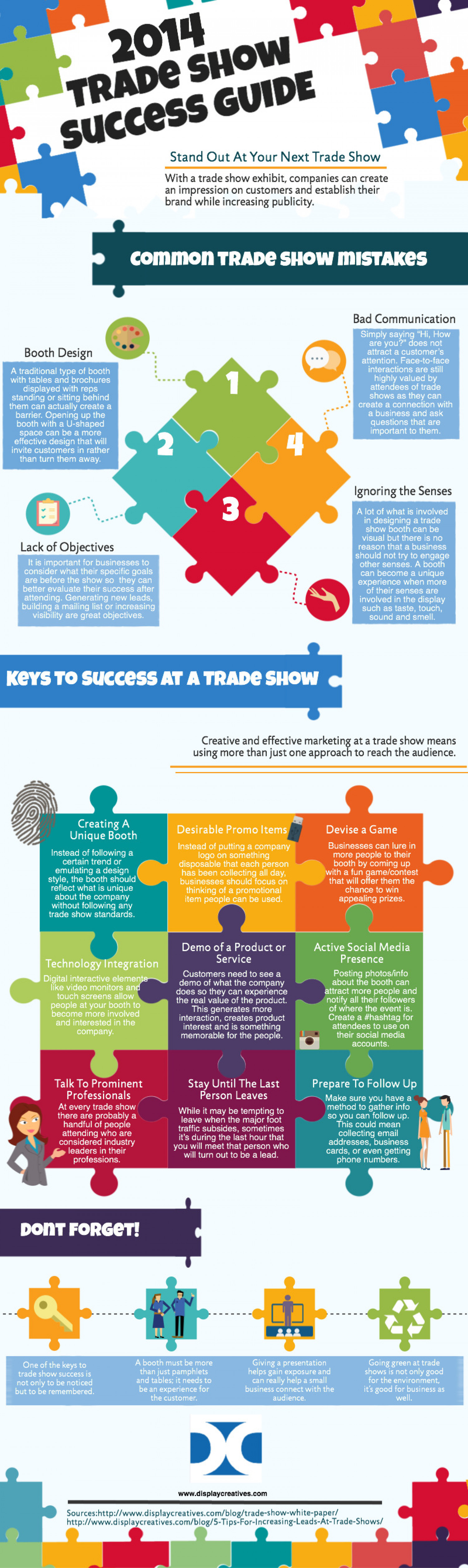 2014 Trade Show Success Guide Infographic
