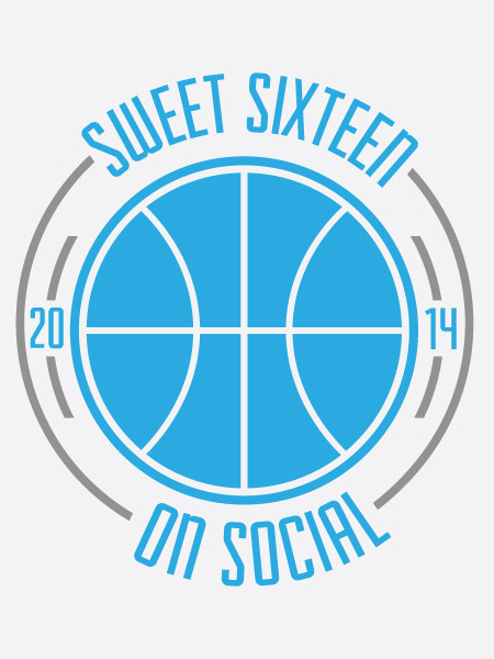 2014 Sweet Sixteen on Social Infographic