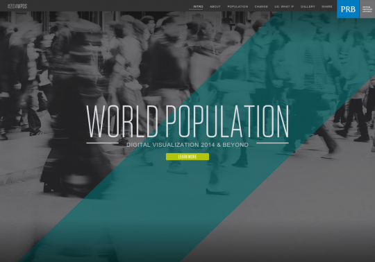 2014 World Population Digital Visualization