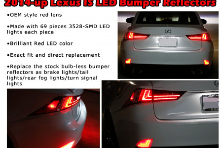 2014-up Lexus IS LED Bumper Reflectors Infographic