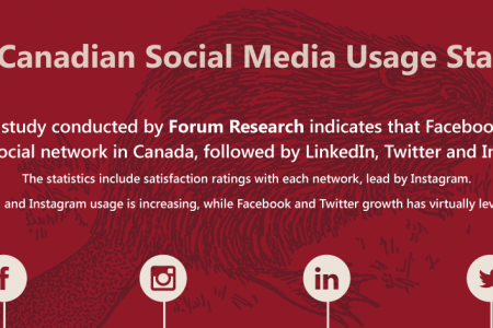 2015 Canadian Social Media Usage Statistics Infographic