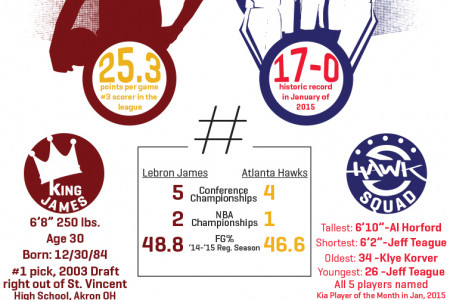 2015 NBA Eastern Conference Finals Infographic - Fanzz Infographic