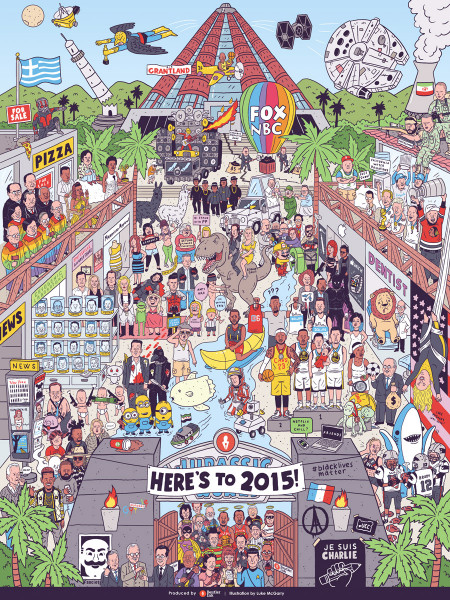 2015 Pop Culture Mashup (Illustration) Infographic