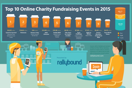 2015 Top Online Charity Fundraising Events Infographic  Infographic