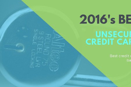 2016's Best Unsecured Credit Cards Infographic
