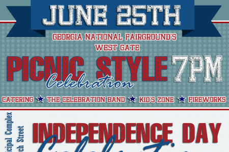 2017 Middle Georgia 4th of July Events Infographic
