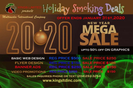 2020 Holiday Smoking Deals Infographic