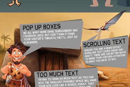 21 Outdated Website Features That Make Your Site Look Like Something from the Stone Age Infographic