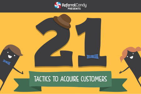 21 Tactics to Acquire Customers Infographic