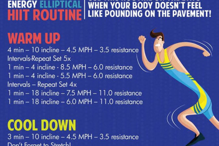 25 Minute High Energy Elliptical HIIT Routine Infographic