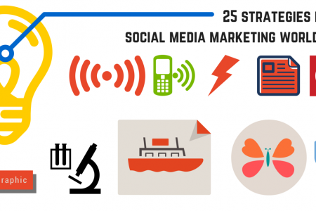 25 Strategies from Social Media World 2015 Infographic Infographic