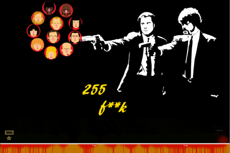 255 fuck in Pulp Fiction  Infographic