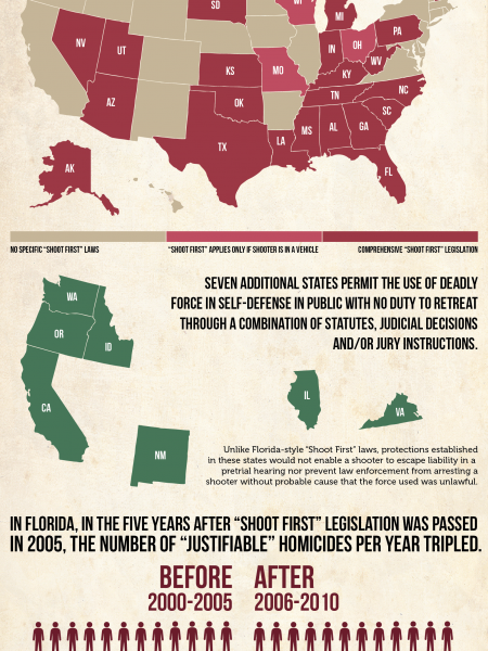 26 US States Have Stand Your Ground Laws Infographic