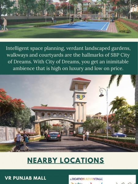 3 BHK Flats in Mohali by SBP Group Infographic