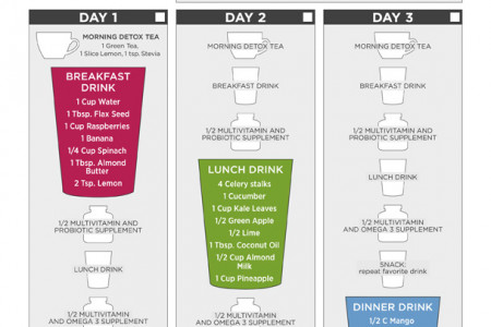 3 Day Detox Plan Infographic