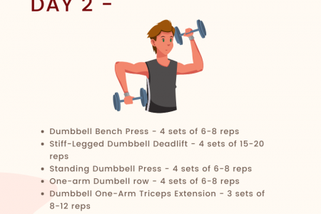 3 Day Full Body Dumbbell Workout Routine Infographic