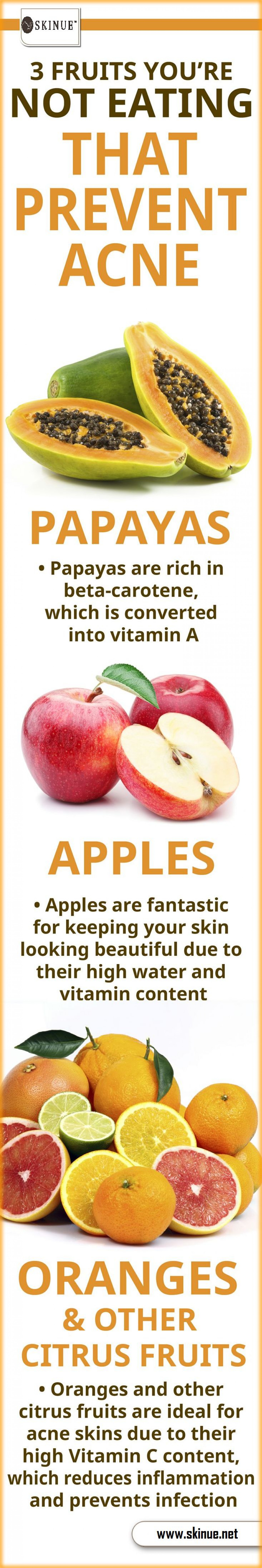 3 Fruits  that Prevent Acne Infographic