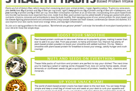 3 Healthy Habits to Boost Your Plant-Based Protein Intake Infographic