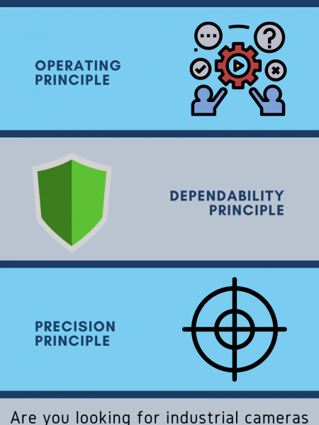 3 Main Principle Features of Every Industrial Cameras Infographic