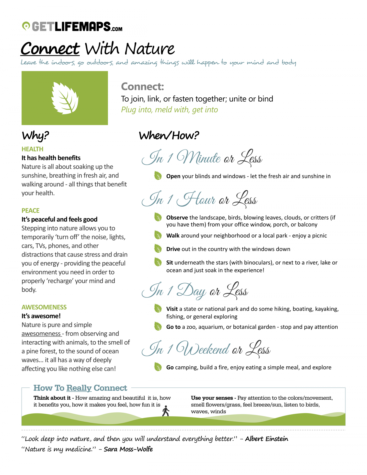 3 Reasons To Connect With Nature And 8 Ways To Do It Infographic