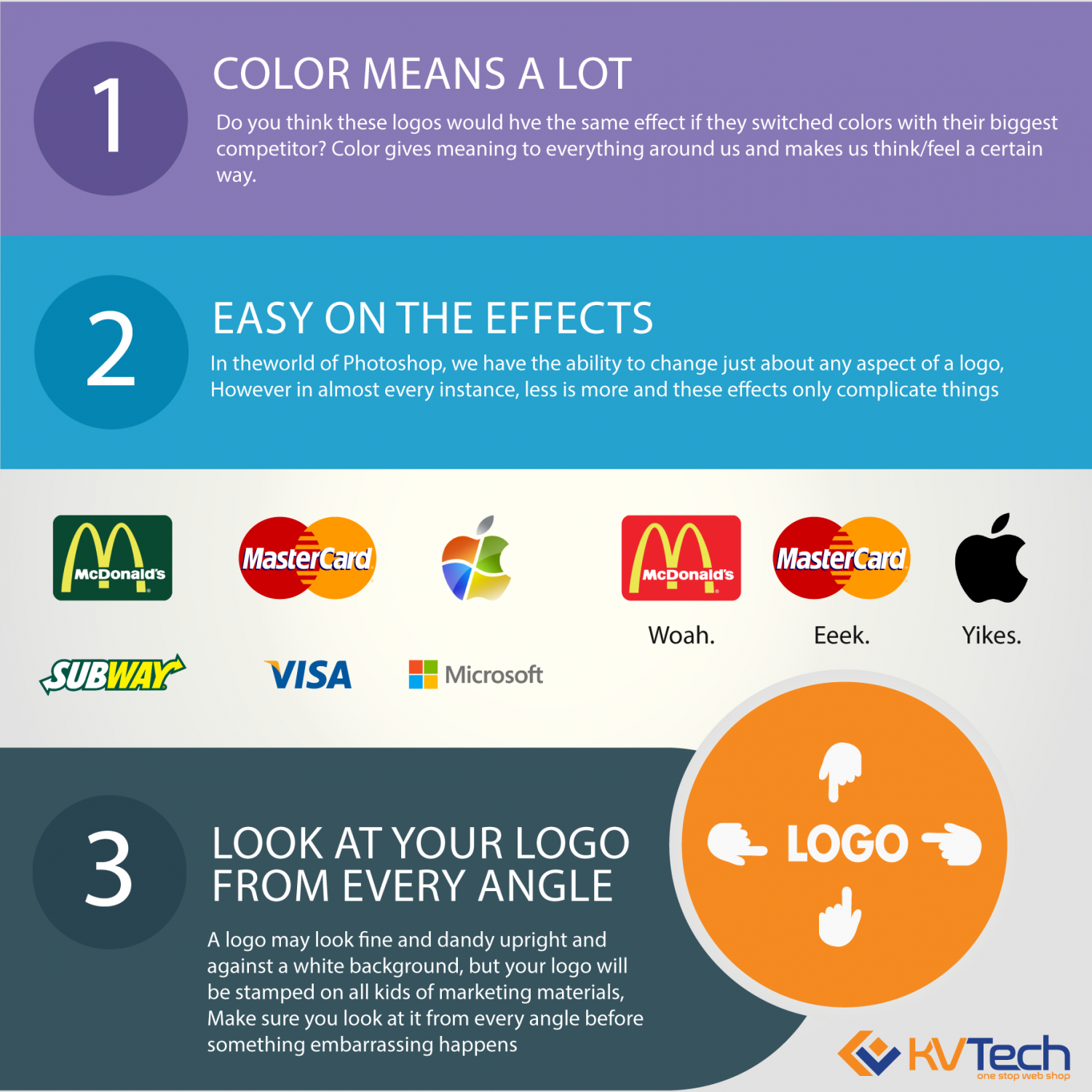 3 Step to make your Logo different from other  Infographic