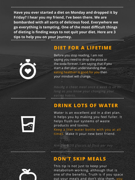 3 Tips to Not Quit Your Diet  Infographic