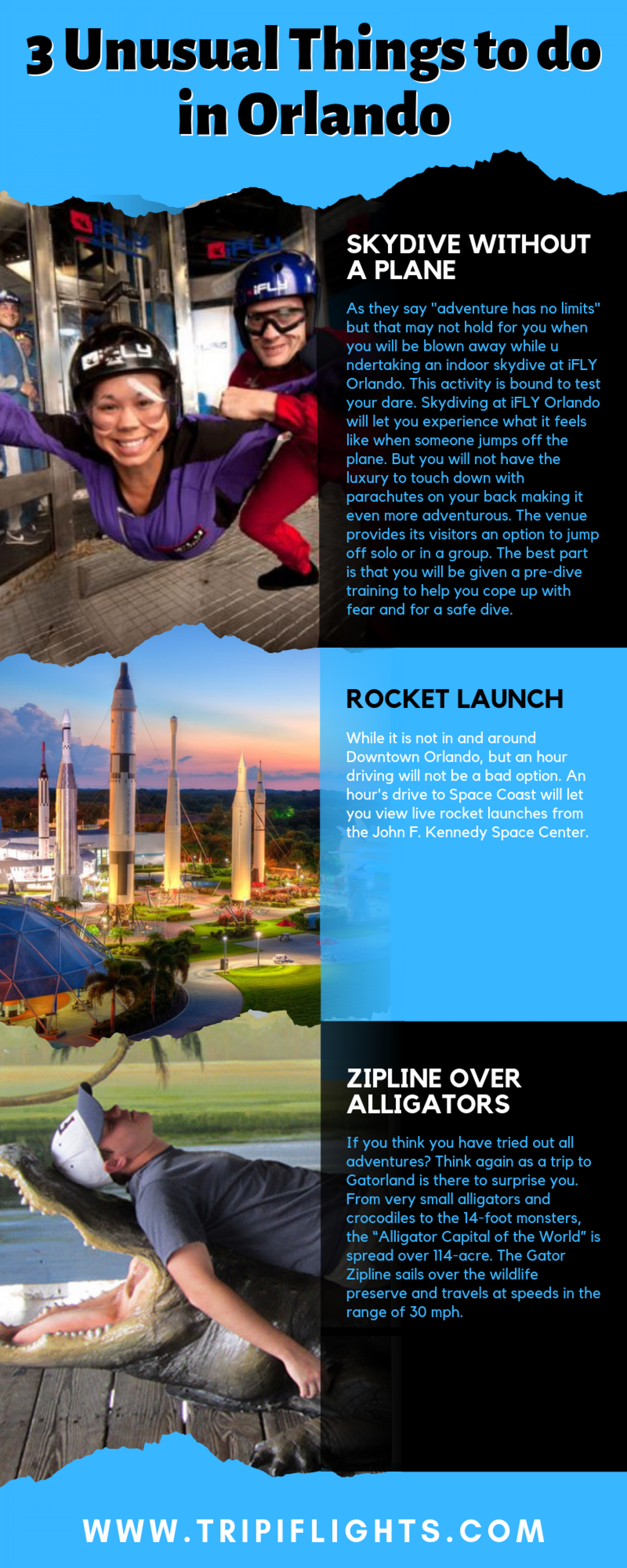 3 Unusual Things to do in Orlando Infographic