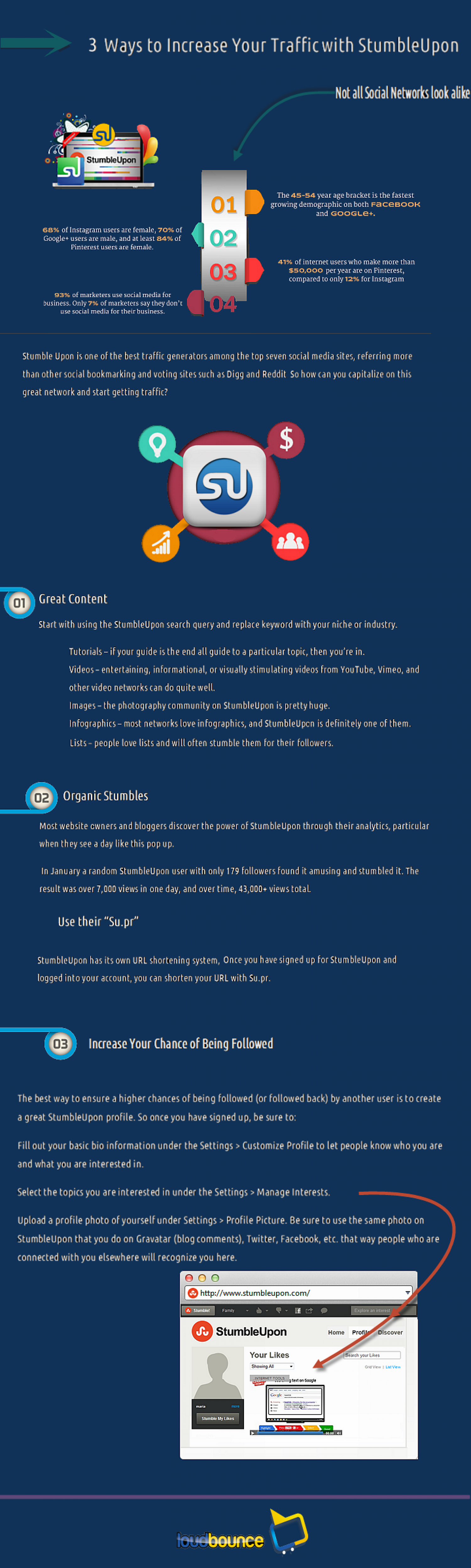 Increase Website referals with Stumbleupon Infographic