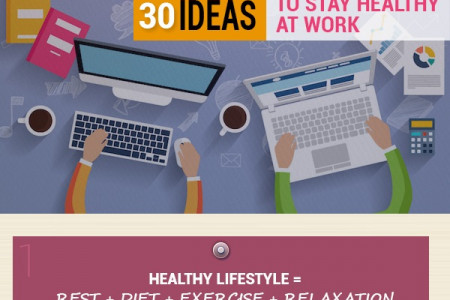 30 Ideas to Stay Healthy at Work Infographic