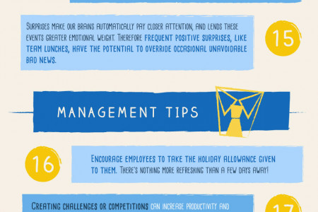 30 ways to make your employees happy Infographic