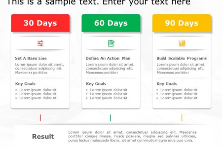 30-60-90 day plan PowerPoint Template Infographic
