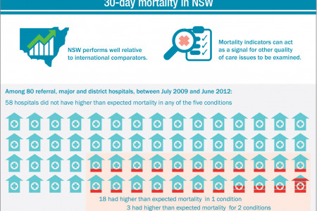 30-day mortality following hospitalisation Infographic
