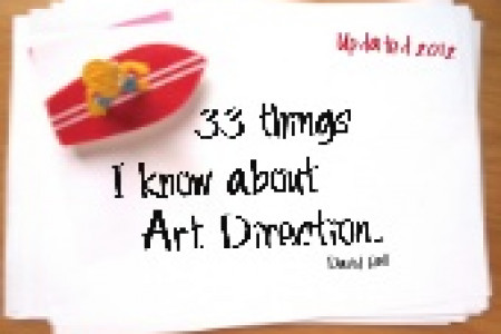33 Things I know about Art Direction Infographic