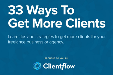 33 Ways To Get More Clients Infographic